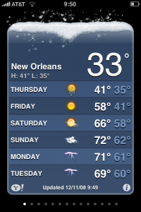 Once every 5 years or so, it snows in New Orleans