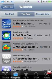 Sol: Sun Clock at #2 Weather app in App Store
